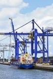 鹿特丹,荷兰集装箱码头港  图库摄影