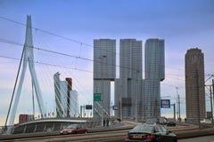 鹿特丹,荷兰- 8月18日:鹿特丹是城市方式 免版税库存照片
