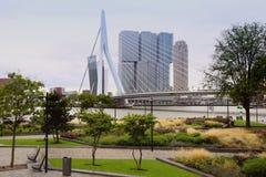 鹿特丹,荷兰- 8月18日:鹿特丹是城市方式 图库摄影