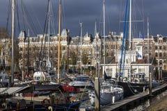 鹿特丹-小游艇船坞 库存照片