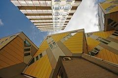 从鹿特丹-荷兰的立方体房子 免版税图库摄影