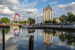 鹿特丹Oude避风港 库存照片