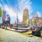 鹿特丹Veerhaven港口  免版税图库摄影