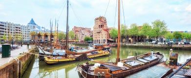 鹿特丹Veerhaven港口  库存图片