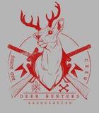 鹿猎人 图库摄影