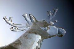 鹿的冰形象 免版税库存照片