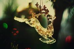 以鹿的形式圣诞节玩具 库存图片