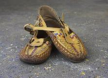 鹿皮鞋鞋子 库存照片
