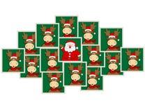 鹿纵向圣诞老人 免版税库存图片