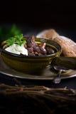 鹿肉和牛肉爱尔兰人的菜肴 免版税库存照片