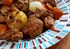 鹿肉蔬菜炖肉 库存照片