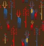 鹿角的鹿和幻想树 库存图片