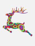 鹿跳跃的传染媒介 免版税库存照片