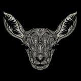 鹿顶头样式 免版税库存图片