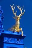 鹿djurgarden金黄公园皇家斯德哥尔摩 库存图片