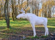 麋城市雕塑在10月30日周年公园  图库摄影
