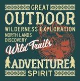 麋小河室外野生生物探险冒险 皇族释放例证