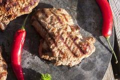 麋牛腰肉排 免版税库存照片