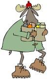 麋运载的袋子杂货 免版税库存照片