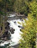 麦克唐纳小河,冰川国家公园,蒙大拿 库存照片