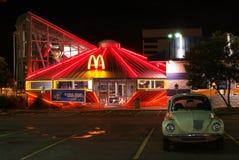 麦克唐纳餐馆在罗斯维尔 库存照片