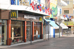 麦克唐纳餐馆在Hersonissos 库存照片