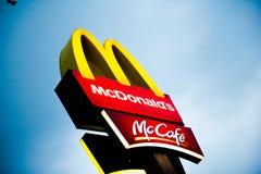 麦克唐纳Mc咖啡馆 库存照片