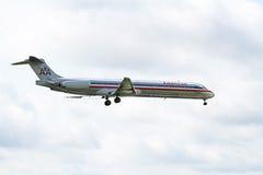 麦克当诺道格拉斯公司DC-9-82 (MD-82) 库存照片