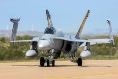 麦克当诺道格拉斯公司F/A-18大黄蜂喷气式歼击机 库存照片