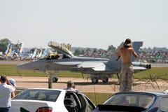 麦克当诺道格拉斯公司F/A-18大黄蜂 库存图片