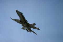 麦克当诺道格拉斯公司F/A-18大黄蜂F 18喷气式歼击机 免版税库存图片