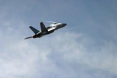 麦克当诺道格拉斯公司F/A-18大黄蜂F 18喷气式歼击机 免版税库存照片