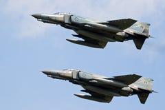 麦克当诺道格拉斯公司F-4幽灵II喷气式歼击机航空器 免版税图库摄影