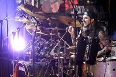 麦克Portnoy,比利Sheehan,音乐会的托尼MacAlpine和Derek Sherinian 免版税图库摄影