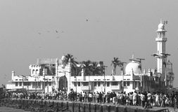 赴麦加朝圣过的伊斯兰教徒阿里清真寺 免版税图库摄影