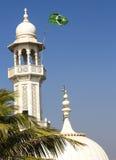 赴麦加朝圣过的伊斯兰教徒阿里清真寺minar和圆顶 免版税库存图片