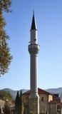 赴麦加朝圣过的伊斯兰教徒Turgut - Krst dzamija (发怒清真寺)在奥赫里德 马其顿 库存图片