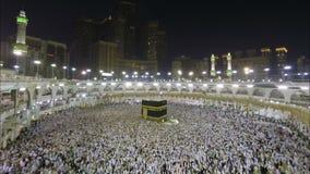 麦加的圣堂在沙特阿拉伯时间间隔 影视素材