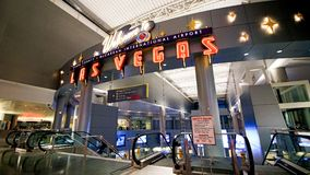 麦卡伦国际机场LAS 库存照片