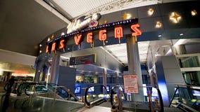 麦卡伦国际机场LAS 免版税图库摄影