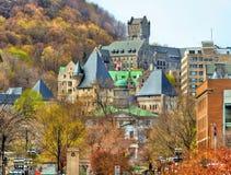 麦吉尔大学, McTavish水库和维多利亚皇家医院在蒙特利尔-加拿大 库存图片