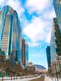 麦吉尔街在蒙特利尔,加拿大街市  库存照片