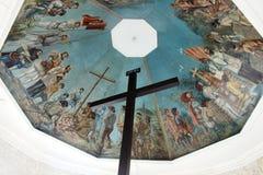 麦哲伦` s十字架一个古迹在宿雾,菲律宾 库存照片