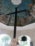 麦哲伦` s十字架在宿雾,菲律宾 免版税图库摄影