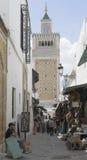 麦地那在突尼斯 库存照片