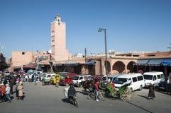 麦地那处所马拉喀什 免版税库存图片