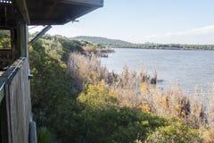麦地那盐水湖,赫雷斯de la弗隆特里,卡迪士,西班牙 库存照片