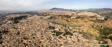 麦地那空中全景在Fes,摩洛哥 库存照片