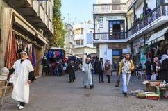 麦地那纪念品店在唐基尔,摩洛哥 图库摄影