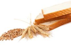 麦子和产品 免版税库存照片